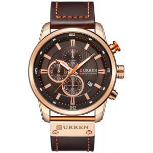 Men Leather Strap Military Watches Men's Chronograph Waterproof Sport Wrist Date Quartz Wristwatch Gifts