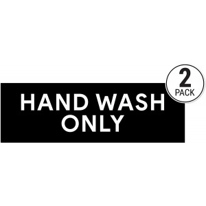Hand Wash Only Sticker Signs   Workplace Hygiene Reminder for Restaurants, Commercial Kitchens, Hospitals, Clinics, and Medical Facilities (Pack of 2)