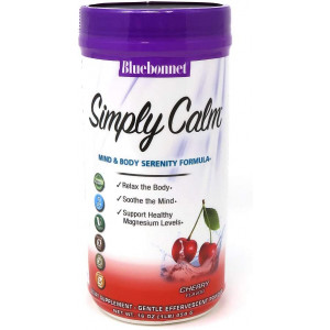 Bluebonnet Nutrition Simply Calm Powder, for Calm, Anxiety, Muscle Cramps, Stress Relief, Vegan, Vegetarian, Non GMO, Gluten Free, Soy Free, Milk Free, Kosher, 16 oz, 82 Servings, Cherry Flavor