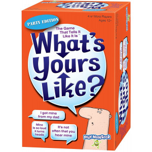 PlayMonster 7416 What's Yours Like? Party Edition, Orange and Blue Box