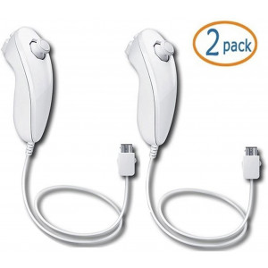 Lyyes Wii Nunchuck Controller,Lyyes Nunchuck Controllers for Nintendo Wii Video Game Pack of 2 (White)