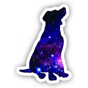 "Dog Sticker Galaxy Collection - Laptop Stickers - 2.5"" Vinyl Decal - Laptop, Phone, Tablet Vinyl Decal Sticker"