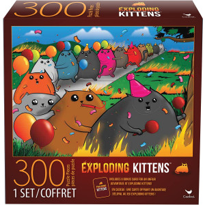 Cardinal Games 6046342 Exploding Kittens 300 Piece Jigsaw Puzzle, Multicolor