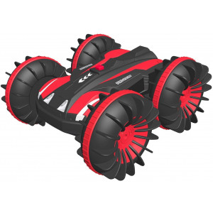 Waterproof Remote Control Car Boat 4WD 6CH 2.4G All Terrain RC Vehicle 1/16 Scale Double Sides Stunt Vehicle with 360 Degree Spins and Flips by FREE TO FLY