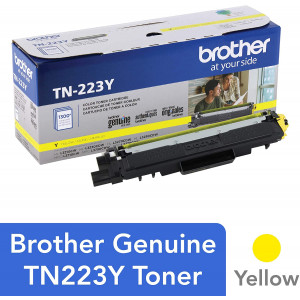 Brother Genuine TN223Y, Standard Yield Toner Cartridge, Replacement Yellow Toner, Page Yield Up to 1,300 Pages, TN223, Amazon Dash Replenishment Cartridge