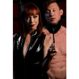 Mistress by Isabella Sinclaire Isabella Sinclaire Leather Posture Collar with Leash