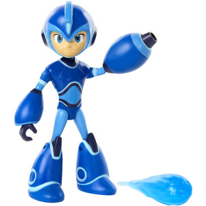 Mega Man: Fully Charged  Mega Man Articulated Action Figure with Removable/Interchangeable Mega Buster and Energy Blast Accessory! Based on the new show!