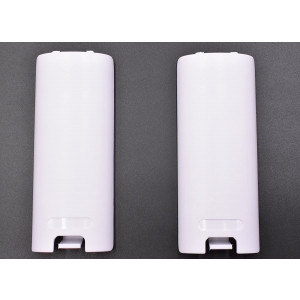 2 Pack of Replacement Battery Back Door Cover Shell for Nintendo Wii Remote Controller (White)