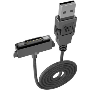 Sonim XP5/XP6/XP7 Charger, Extra Long [6.5ft] Nakedcellphone Brand Black [Rugged Braided Nylon] USB Charge/Sync Cable Cord [with Magnetic Contacts] for Sonim XP5700/XP6700/XP7700 Phones