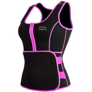 ALONG FIT Waist Trainer Sweat Sauna Vest for Women Waist Trainer Corset Fitness Weight Loss Neoprene Body Shaper