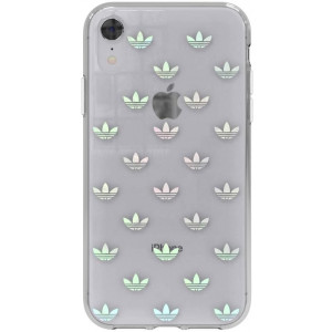 Adidas Clear Entry Mobile Phone Case, Cover for Apple iPhone XR, 15.5 cm (6.1 inches), Blue, Transparent