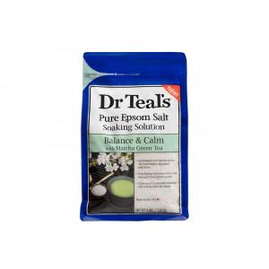 Dr. Teal's Epsom Salt Matcha Green Tea Bath Soaking Solution with Essential Oils - 3 lbs