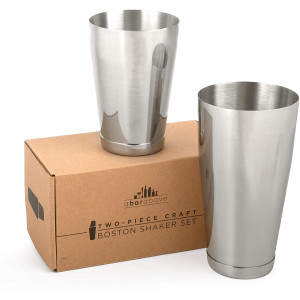 Premium Weighted Cocktail Shaker Set: Two-Piece Pro Boston Shaker Set. 18oz and 28oz Martini Drink Shaker