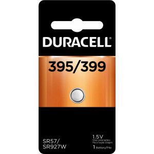 Duracell  395/399 1.5V Silver Oxide Button Battery  long-lasting battery  1 count