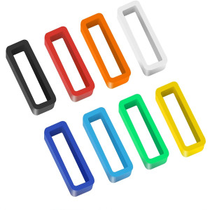 8 Pack Rubber Replacement Watch Band Strap Loops Silicone Watch Strap Keeper Retainer Holder Loop 16mm 18mm 20mm 22mm with Tools
