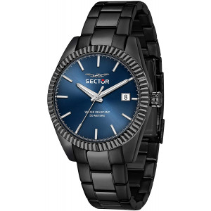 Sector No Limits Men's 240 Quartz Sport Watch with Stainless-Steel Strap, Black, 20 (Model: R3253240008)