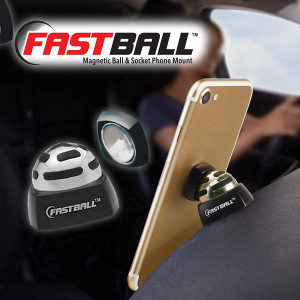 As Seen On TV Fastball Magnetic Car Cell Phone Mount/Holder by BulbHead  Universal 360 Degree Car Dashboard Cellphone Holder - Swivel to Perfect Viewing Position