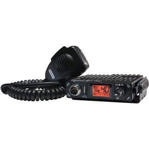 President Electronics BILL CB Radio, 40 Channels AM, 12 Volts, USB 5V/2.1A, Up/Down Channel Selector, Volume Adjustment and ON/OFF, Manual Squelch and ASC, Multi-functions LCD Display, S-meter