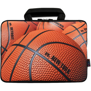 """iColor 12"""" Laptop Handle Bag 11.6"""" 12.2 inch Neoprene Notebook Tablet Sleeve Computer PC Carrier Protection Cover Case Pouch (Basketball)"""