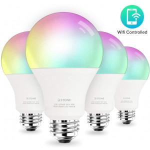 [2020 Upgrade] Smart LED Light Bulb 2.4G(Not 5G) A21 by 3Stone, 10W (100W Equivalent) E26 WiFi App Controlled, Dimmable Warm White(3000K) and RGB Colors, Works Perfect with Alexa, Google Assistant