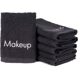 Arkwright Makeup Remover Towel, Pack of 6 Soft Cotton Towel for Women (Black)