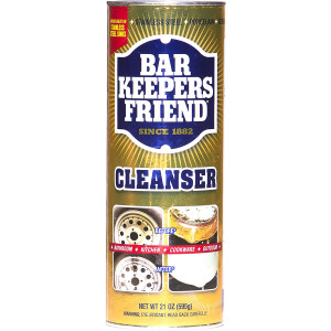 Bar Keepers Friend Powder Cleanser 21 oz - Multipurpose Cleaner and Stain Remover - Bathroom, Kitchen and Outdoor Use - for Stainless Steel, Aluminum, Brass, Ceramic, Porcelain, Bronze and More (1)