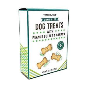 Trader Joe's - Grain Free Dog Treats with Peanut Butter and Banana NET WT 10.6 OZ (300g)