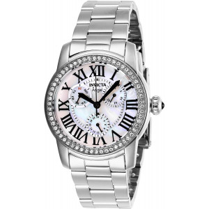 Invicta Women's Angel Quartz Stainless-Steel Strap, Silver, 20 Casual Watch (Model: 28470)