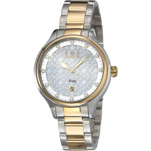 Invicta Women's Angel Quartz Watch with Stainless Steel Strap, Two Tone, 16 (Model: 27436)