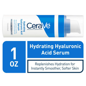 CeraVe Hyaluronic Acid Face Serum   1 oz   Hydrating Serum for Face with Vitamin B5   For Normal to Dry Skin   Paraben and Fragrance Free