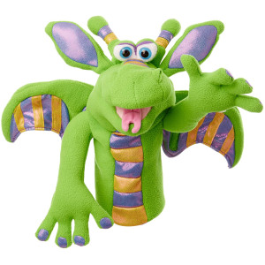 Melissa and Doug Dragon Puppet with Detachable Wooden Rod for Animated Gestures