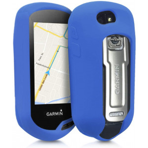 kwmobile Case Compatible with Garmin Oregon 700 / 750t / 600/650 - GPS Handset Navigation System Soft Silicone Skin Protective Cover - Blue