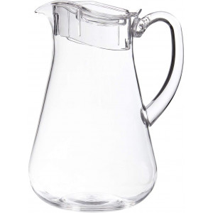 STORi Clear Plastic 64-ounce Pitcher with Lid