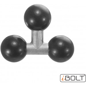 iBOLT Triple 25mm / 1 inch to 25mm / 1 inch - Three Metal Ball Joint Extension Adapter for Industry Standard Dual Ball Socket mounting arms