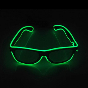 sanzhi Light up El Wire Rave Glasses Glow Flashing LED Sunglasses Costumes for New Year Rave Party EDM Halloween Carnival