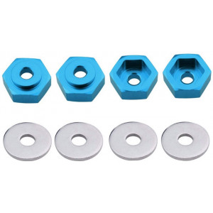 ShareGoo Metal 12mm to 17mm Wheel Hex Adapter Adaptor Converter for Tamiya Axial RC4WD Traxxas HPI Himoto HSP Losi Kyosho RC 1/10 On-Road Car Buggy Truck Tyre Tires