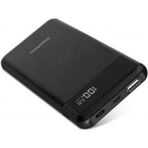 Gigastone Power Bank 10000mAh Dual Outputs: PD 3.0 Type-C 9V/2A, Qualcomm QC3.0 5V/3A, Type-C Input 9V/2A, LED Display Fast Charge Compatible with Apple iPhone Xs/XS MAX Nintendo Switch iPad