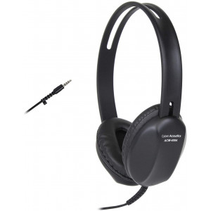 Cyber Acoustics Lightweight 3.5mm Headphones - Great for use with Cell Phones,Tablets, Laptops, PCs, Macs (ACM-4004)