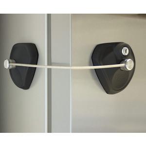 LOCK PODZ Refrigerator Lock, Freezer Lock, Cabinet Lock, Child Safety Lock, Mini Fridge Lock, Fridge Lock with Keys, Fridge Lock for Adults, Lock for Dorm Fridge, Color Black