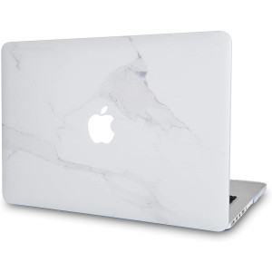LuvCase Laptop Case for MacBook Air 13 Inch A1466 / A1369 (No Touch ID) Rubberized Plastic Hard Shell Cover (Atlantic Marble)