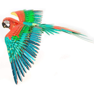 Fascinations ICONX Jubilee Macaw Parrot 3D Metal Model Kit