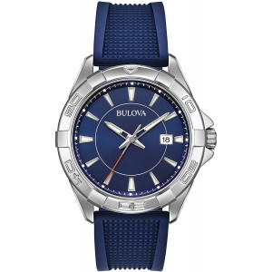 Bulova Casual Sport Silicone Stainless Steel Mens Watch 96B298