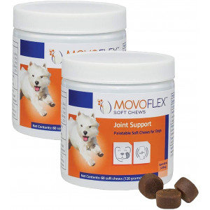 MOVOFLEX Joint Support Soft Chews for Dogs Small 120Count, Brown