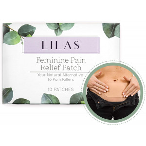 LILAS Pain Relief Patch (10 Pack) - Natural Relief for Menstrual Period Cramps   Made of Essential Oils   Designed for PMS and Endometriosis Pain Relief   Plant Based