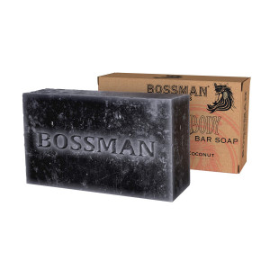 Bossman Men's Bar Soap 4-in-1  Functions as Beard Wash - Shampoo - Body Wash and Conditioner  a Beard Care Essential (4oz)