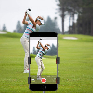 Record Golf Swing, Cell Phone Clip Holder for Golf Training | Work with Clubs, Flag Stick or Alignment Sticks | Quick and Easy to Set Up