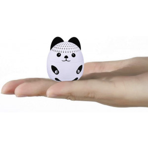 momoho Mini Bluetooth Speaker - Small Size but Great Sound Quality,Photo Selfie Button and Answer Phone Calls,BTS0011A (White Bunny)