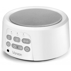 Vanzon White Noise Machine - Sound Machine with Baby for Sleeping and Relaxation, 36 Soothing High Fidelity Nature Sounds, Portable Sleep Sound Therapy for Home, Office, Travel, Baby, Kids and Adults