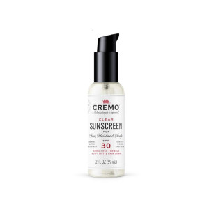 Cremo Clear Sunscreen for Face, Hairline and Scalp, SPF 30, 2 Oz