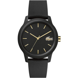 Lacoste TR90 Quartz Watch with Rubber Strap, Black, 16 (Model: 2001064)